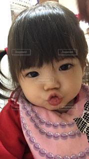 口を尖らせる女の子の写真・画像素材[927284]