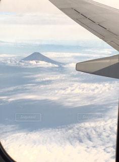 飛行機と富士山 - No.928016