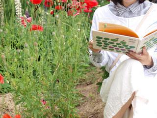 公園,花,本,読書,絵本,book,reading