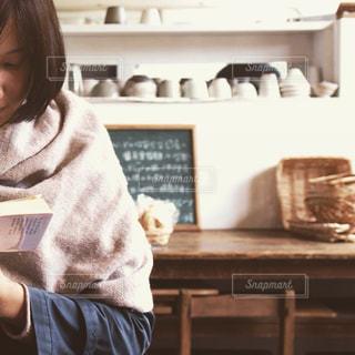 カフェ,本,読書,女の子,book,reading