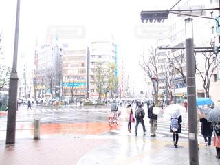 風景,街並み,雨,傘,都会,梅雨