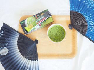 抹茶ラテの写真・画像素材[1302371]