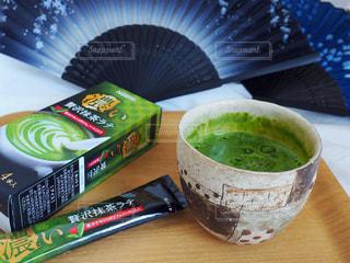 抹茶ラテの写真・画像素材[1302376]