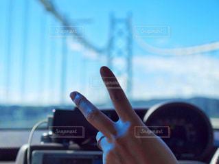 橋と空とピースの写真・画像素材[1313007]