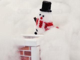 冬,雪,白,マフラー,帽子,雪だるま,綿,えんとつ