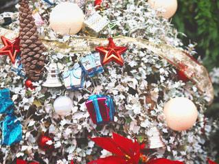 プレゼント,星,松ぼっくり,クリスマス,ベル,クリスマスツリー,ホワイト,飾り,オーナメント