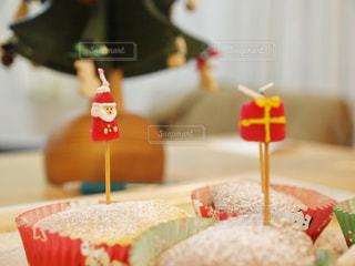 クリスマスの手作りケーキの写真・画像素材[1667735]