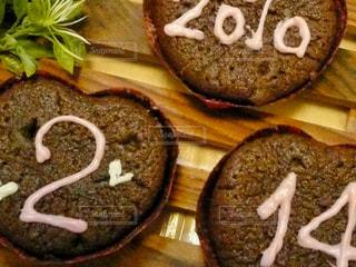 ケーキ,デザート,チョコレート,バレンタイン,数字,バレンタインデー