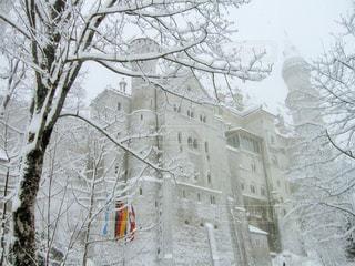 雪に覆われた城の写真・画像素材[1778773]