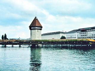 橋,海外,川,ヨーロッパ,レンガ,観光,スイス,海外旅行,ルツェルン,カペル橋