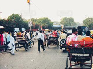 海外,道路,観光,インド,海外旅行,通り,人力車