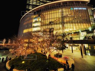 建物,冬,夜,樹木,イルミネーション,都会,高層ビル,梅田,明るい,グランフロント,グランフロント大阪