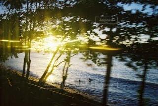 海と夕陽の写真・画像素材[4760891]