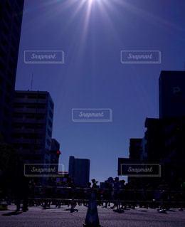 街の通りに信号機の写真・画像素材[978970]