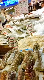 魚,アメリカ,氷,シアトル,マーケット,新鮮,フィッシュ,えび