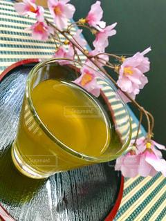 飲み物,桜,癒し,日本,お茶,和,グリーン,緑茶