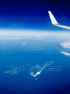 新島と富士山の写真・画像素材[1098259]