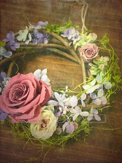 花,紫陽花,リース,ローズ,フラワーアレンジ