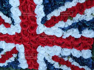 花,赤,カラフル,青,薔薇,イギリス,国旗,フラワーアレンジ