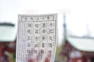 看板を持っている手の写真・画像素材[969015]