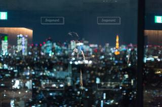 自撮り,東京タワー,夜景,都会,オシャレ,セルフィー,恵比寿,インスタ映え