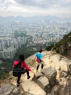香港で登山の写真・画像素材[1405708]
