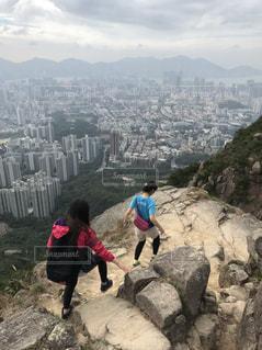 香港で絶景を眺めつつトレッキング♡の写真・画像素材[2231838]