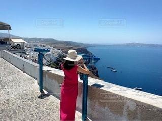双眼鏡で海を眺める♡の写真・画像素材[3451047]