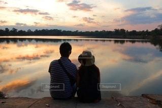 綺麗な夕陽を眺める♡の写真・画像素材[3451048]