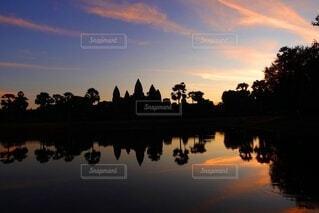 空,海外,朝日,水面,旅行,神秘的,正月,お正月,日の出,カンボジア,海外旅行,新年,初日の出