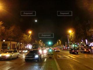 夜景,海外,旅行,フランス,パリ,シャンゼリゼ,インスタ映え