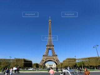 海外,青空,旅行,フランス,パリ,エッフェル塔,インスタ映え