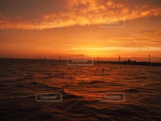 海上電柱の写真・画像素材[1217873]