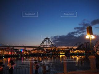 夜ライトアップ橋 - No.940286