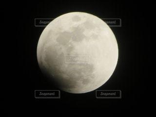 1/31  20:30頃のスーパーブルーブラッドムーンの写真・画像素材[986875]