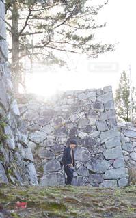 石壁に沿っての写真・画像素材[941866]