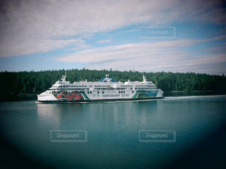 海,夏,カナダ,バンクーバー,大型船