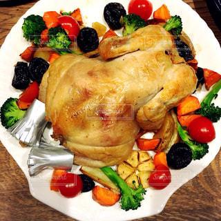 冬,クリスマス,チキン,ごちそう