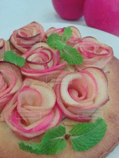 ケーキ,ピンク,薔薇,りんご,手作り,ピンク色,桃色,pink