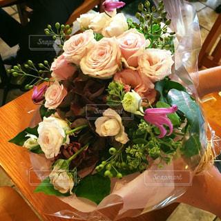 花,ピンク,花束,フラワーアレンジ