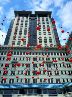 香港のビルの写真・画像素材[1035779]