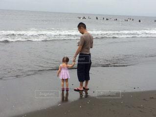 海,父子,父,子,お父さん