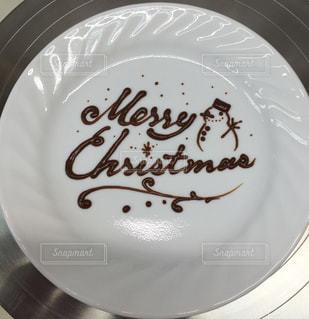 冬,クリスマス,雪だるま,メリークリスマス,チョコペン,お皿アート