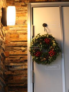フラワーアレンジメント,クリスマス,玄関,クリスマスリース