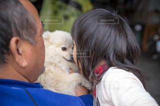 犬とキスの写真・画像素材[1020773]