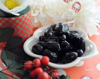 赤,おせち料理,黒豆,お正月,ダルマ