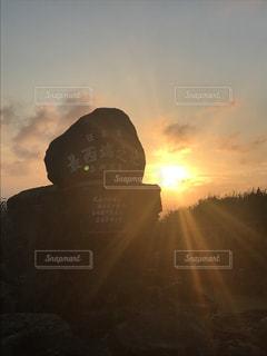夕陽,与那国島,日本最西端の碑
