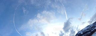雪山,飛行機雲,ゲレンデ,苗場スキー場,PassMe
