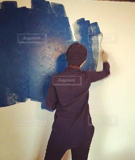 家の壁のペイントの写真・画像素材[1011545]