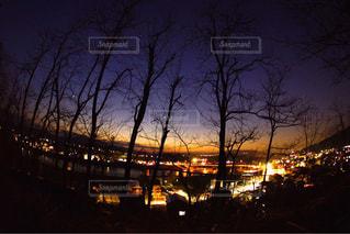 夜の街の景色の写真・画像素材[956994]